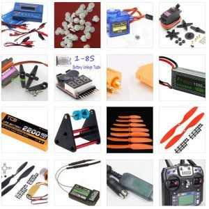 Список деталей и другой электроники для «Как сделать радиоуправляемую модель (самолета, коптера)»